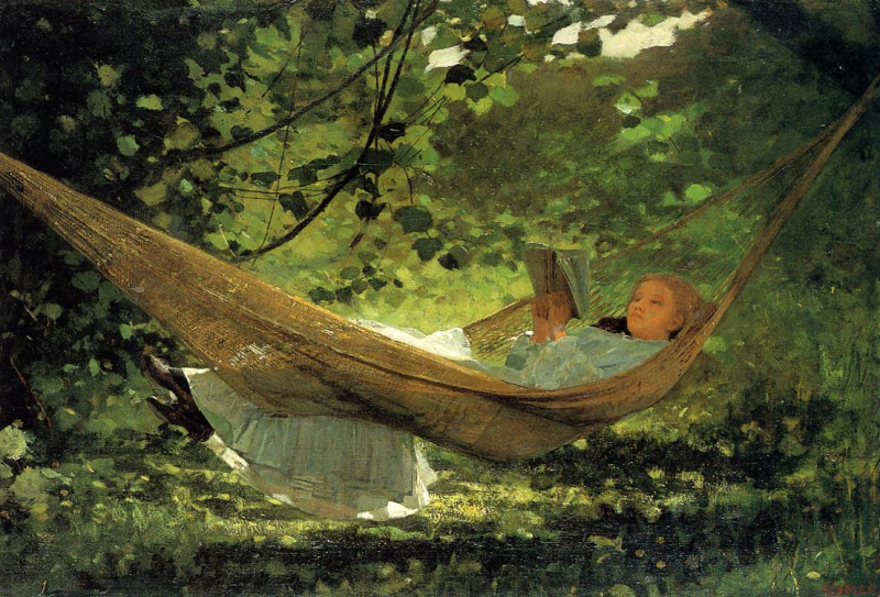 Girl in a Hammock by Winslow Homer