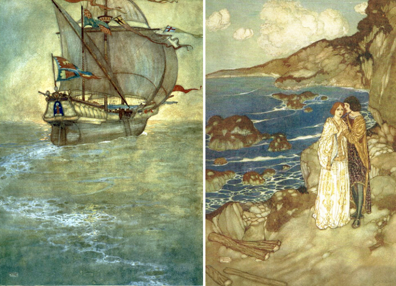 More illustrations from The Tempest by Edmund Dulac