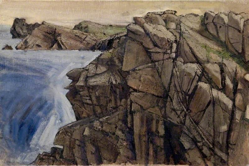 Cliff Face  Tory Island by Derek Hill