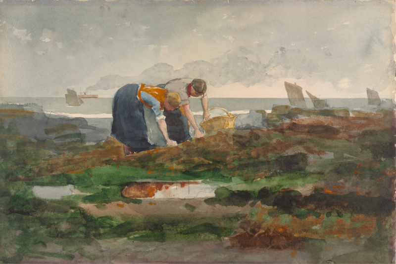 The Mussel Gatherers by Winslow Homer