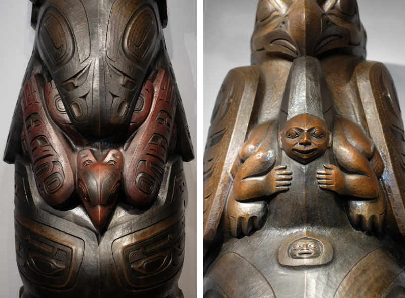 Detail from the Killer Whale Totem by Preston Singletary