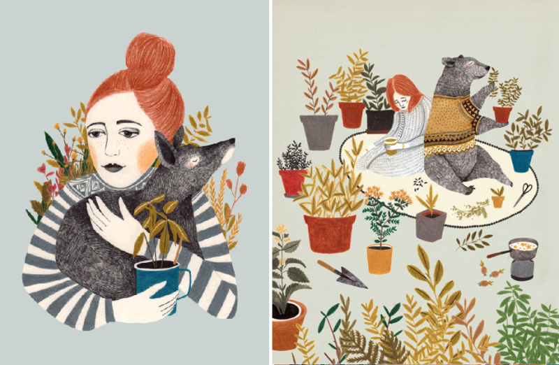 Two illustrations by Lieke  van der  Vorst