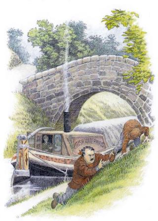 An illustration for E Nesbit's The Railway Children by Ing Moore