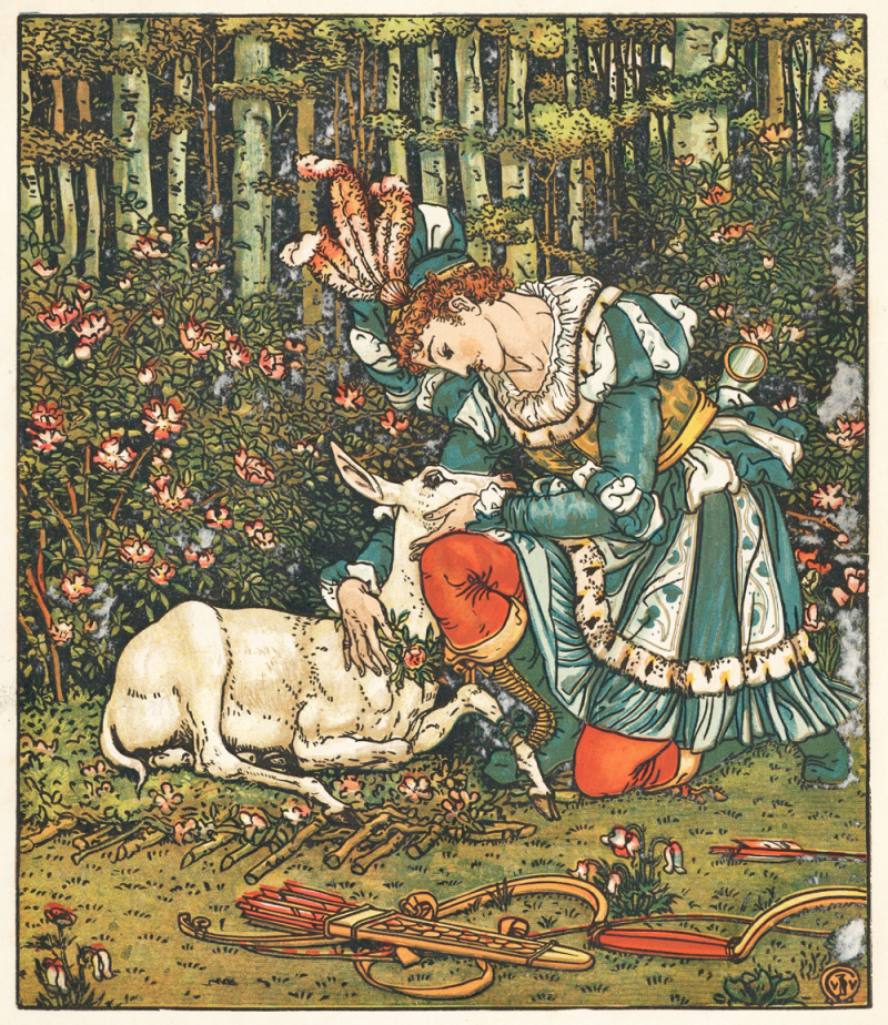 The Hind in the Woods illustrated by Walter Crane