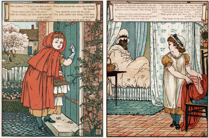 Little Red Riding Hood illustrated by Walter Crane