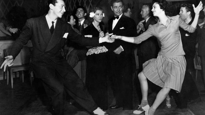 Swing dancers, 1940s