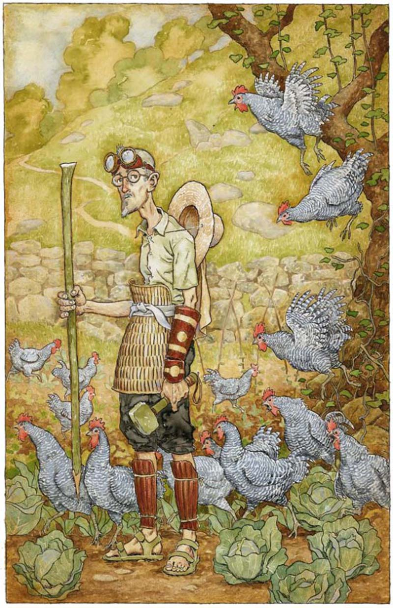 Samurai Chicken Defender by David Wyatt