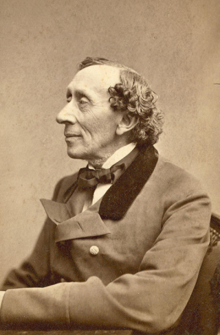 Hans Christian Andersen photographed by Thora Hallager in 1869