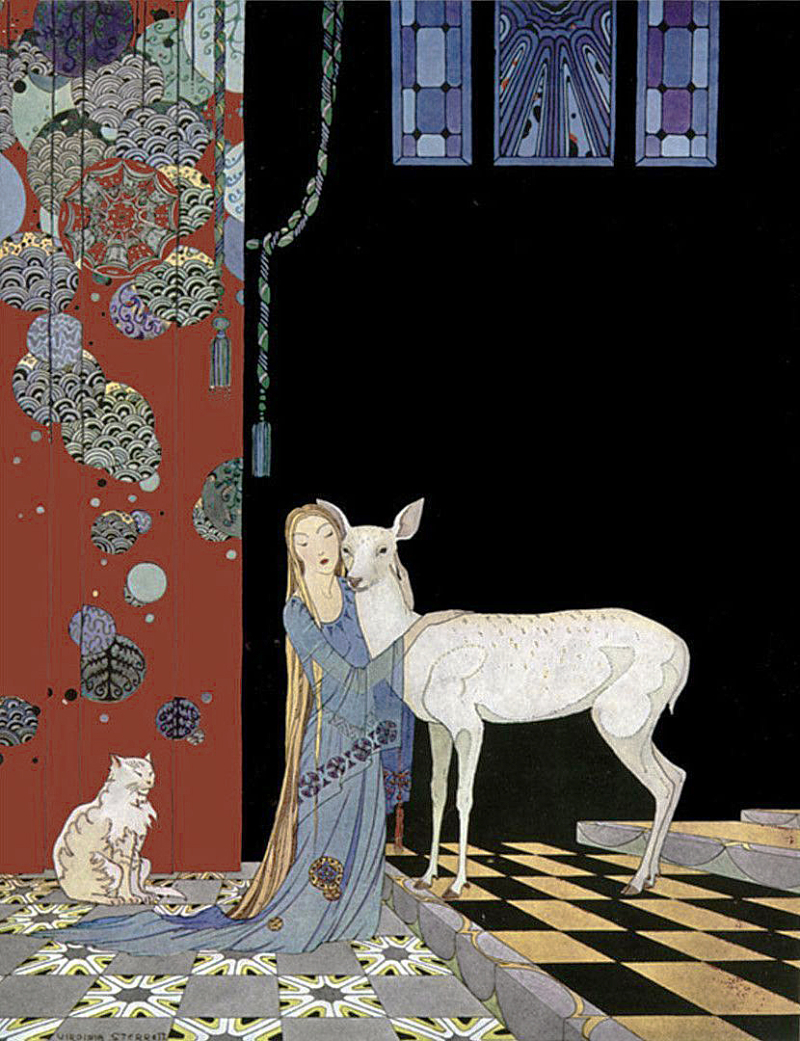 From Old Fairy Tales illustrated by Virginia Frances Sterrett