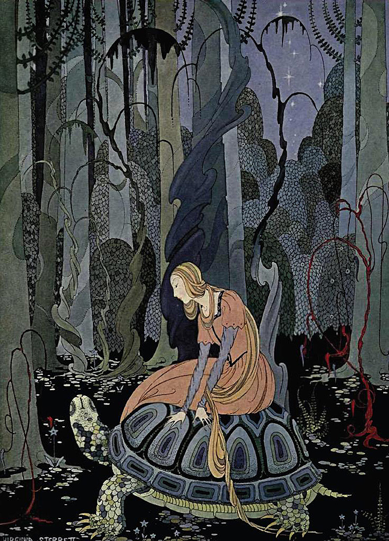 From Old French Fairy Tales illustrated by Virginia Francis Sterrett