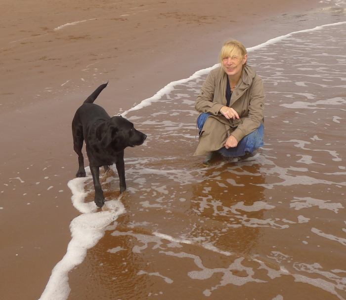 On the south Devon coast with Tilly