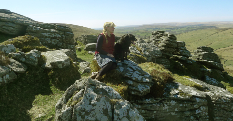 Me and Tilly on Dartmoor