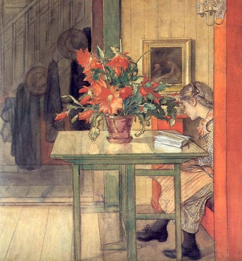 Lisbeth Reading by Carl Larsson