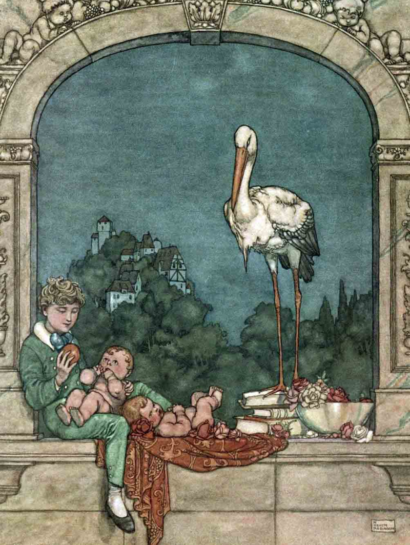 Hans Christian Andersen's The Storks illustrated by William Heath Robinson