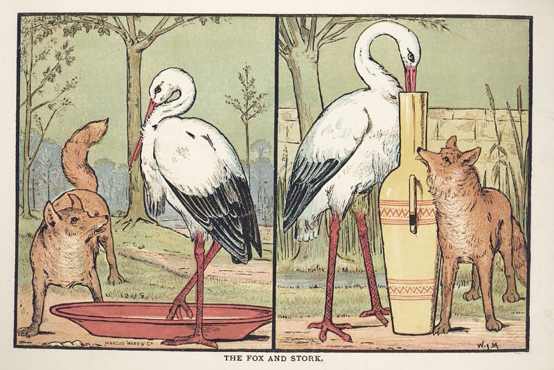 The Fox and the Stork by Walter Crane