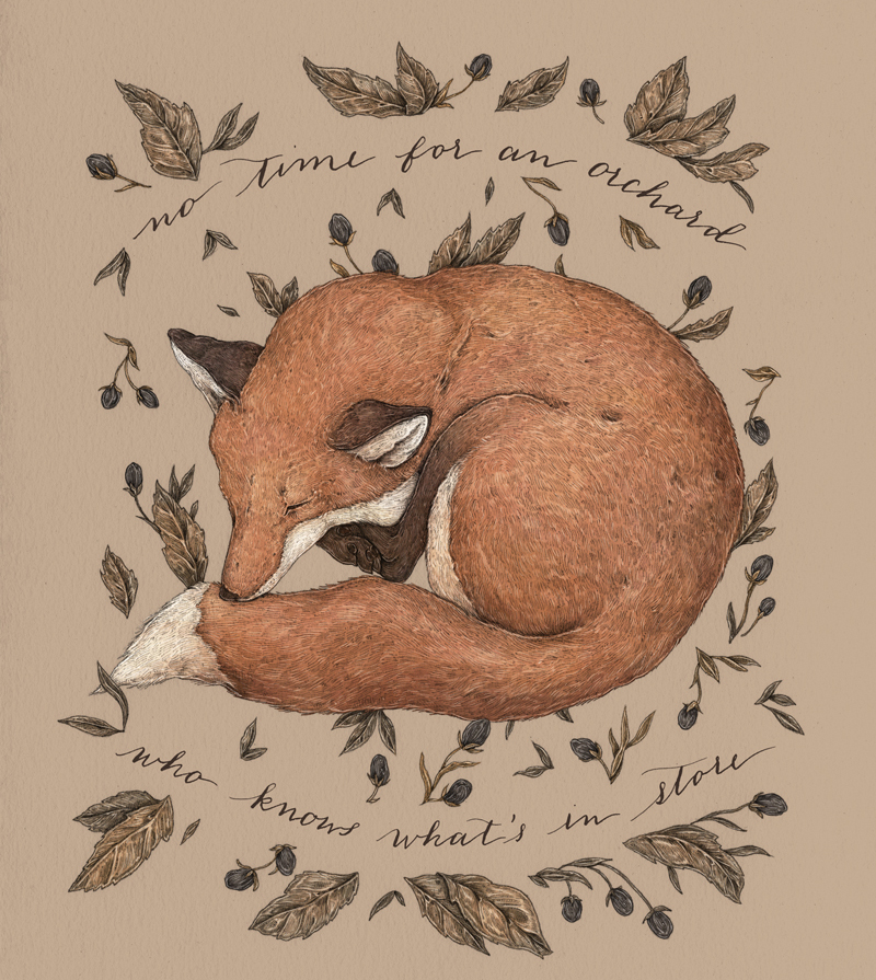 Sleeping Fox by Jessica Roux
