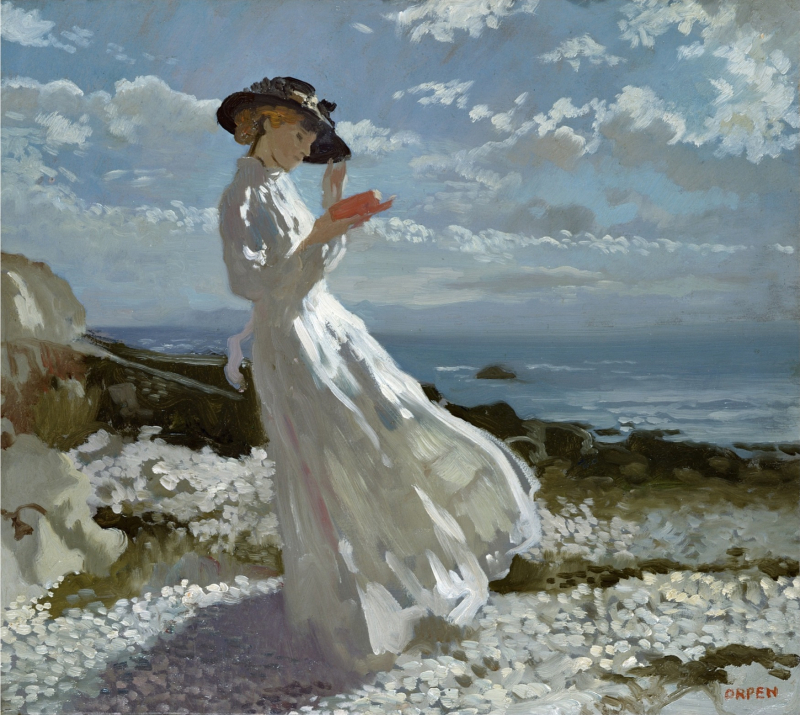 Grace Reading at Howth Bay by Willian Orpen