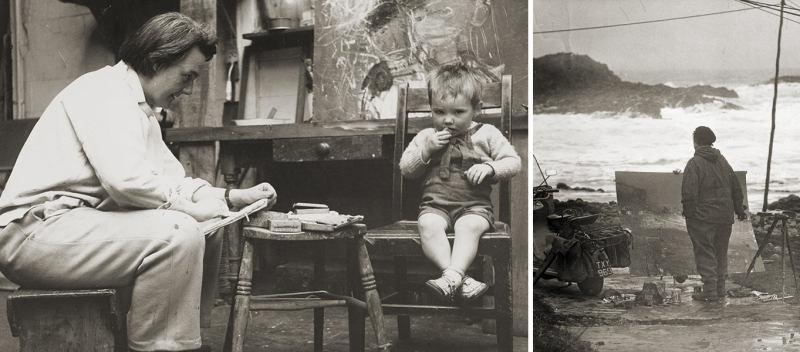 Joan Eardley at work in Glasgow and Catterline