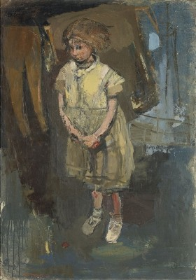 Little Girl in Glasgow Back Court by Joan Eardley