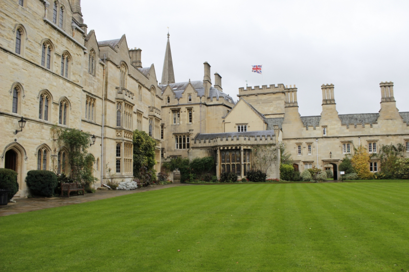 Tolkien's old college at Oxford