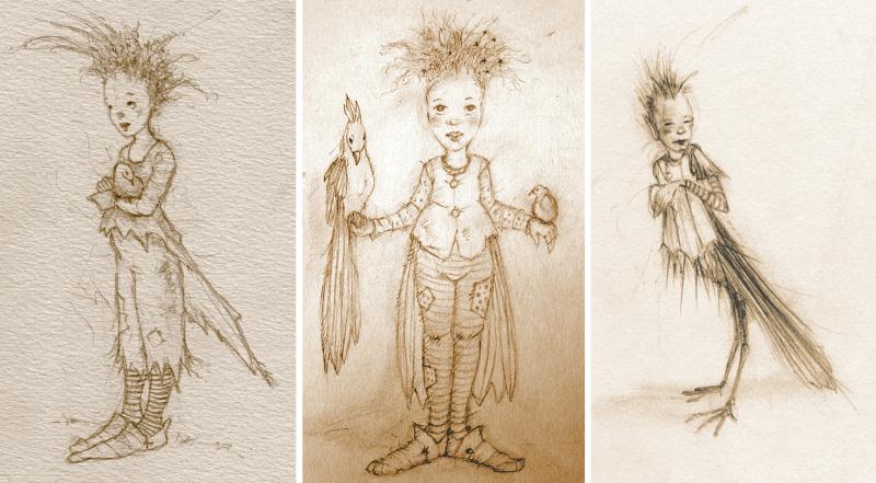 Bird Children from my sketchbooks