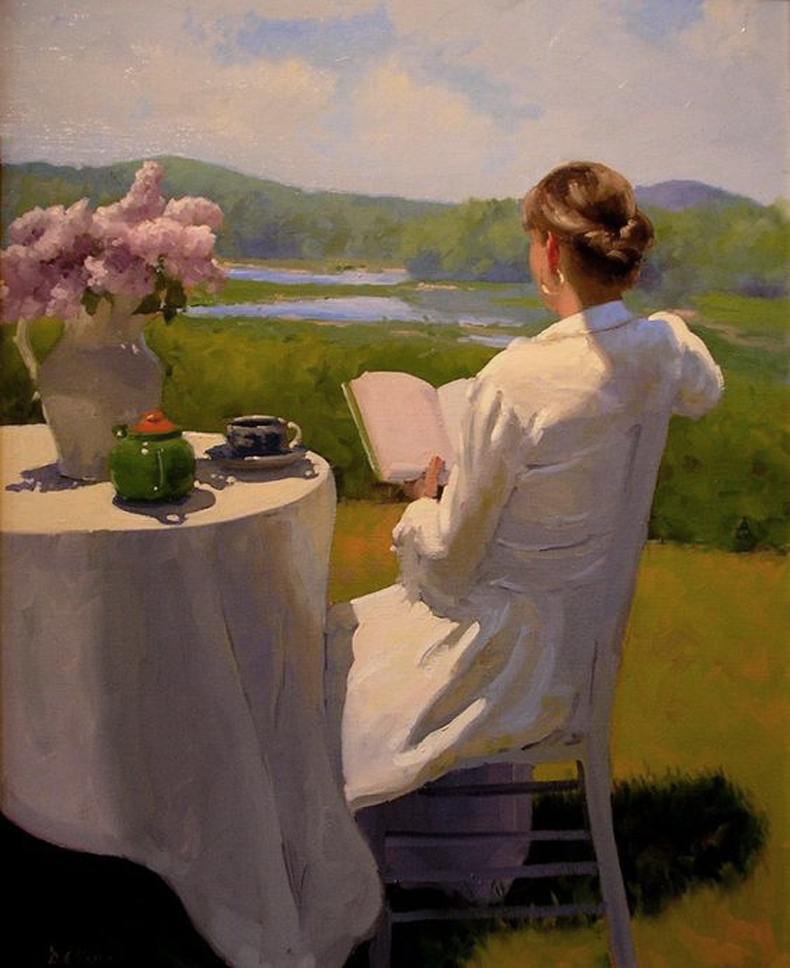 Reading by the Edge of the Marsh by Dennis Perrin