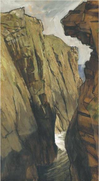 Cliff Face by Derek Hill
