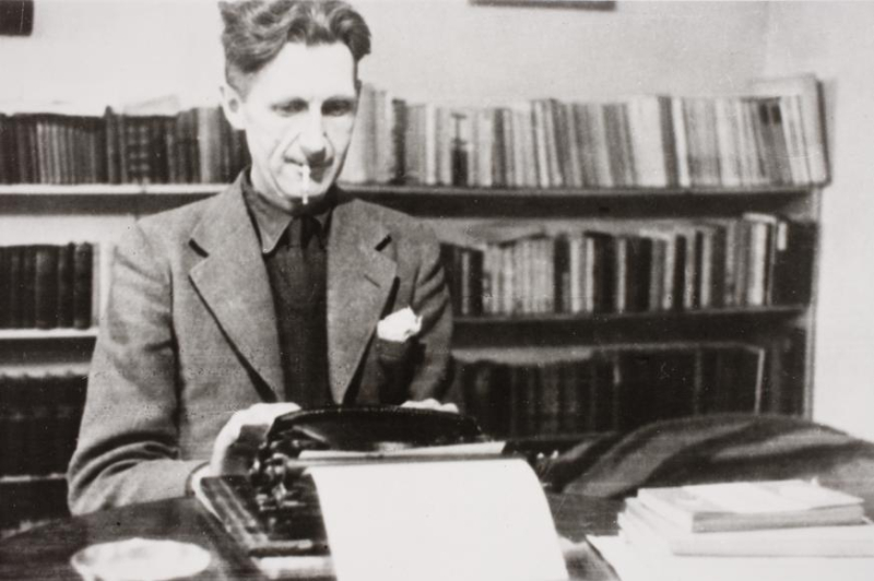 Orwell at Work  photographed by Vernon Richards