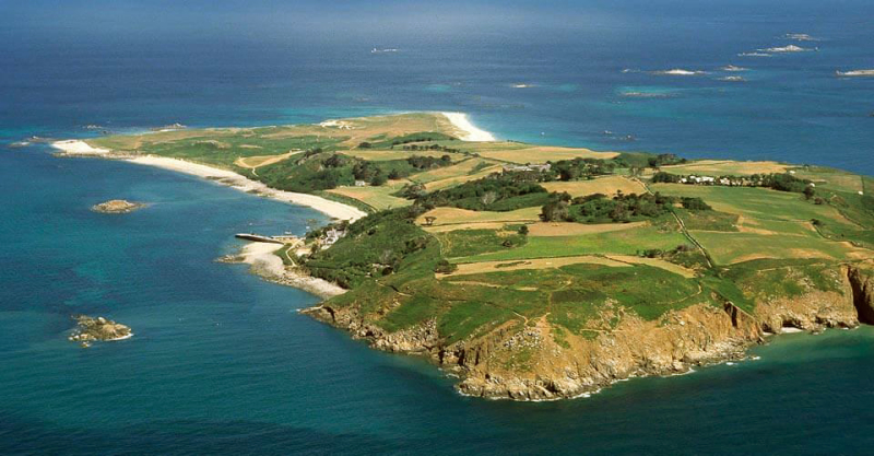 Herm in the Channel Islands, once owned by Compton Mackenzie