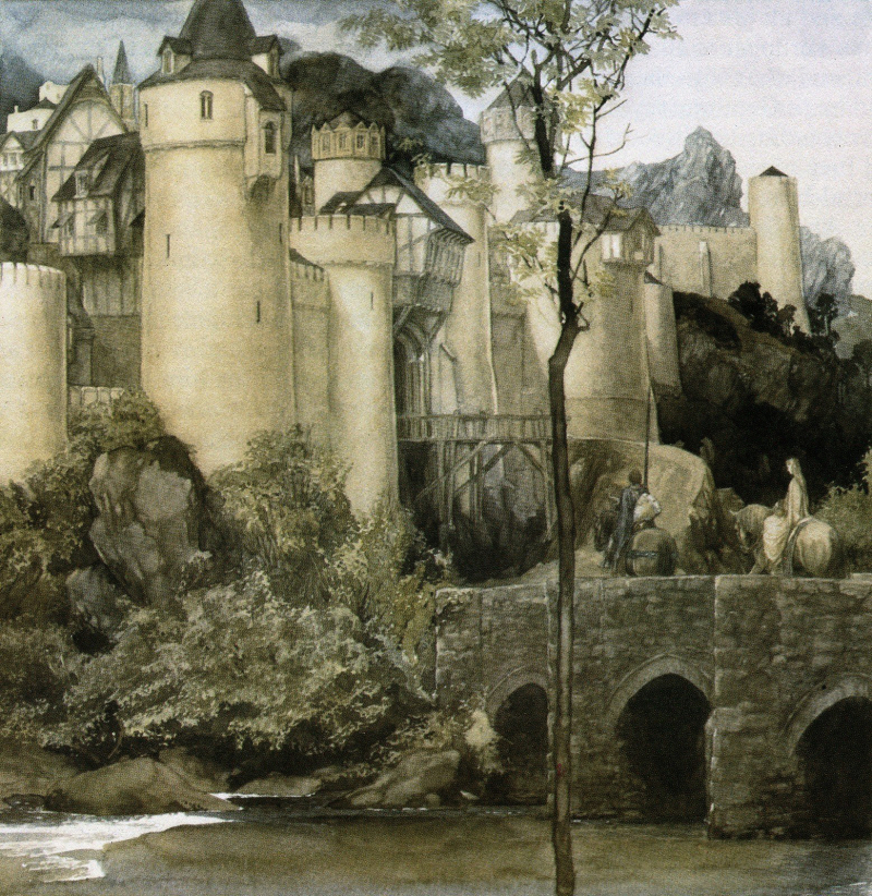From the Mabinogion illustrated by Alan Lee