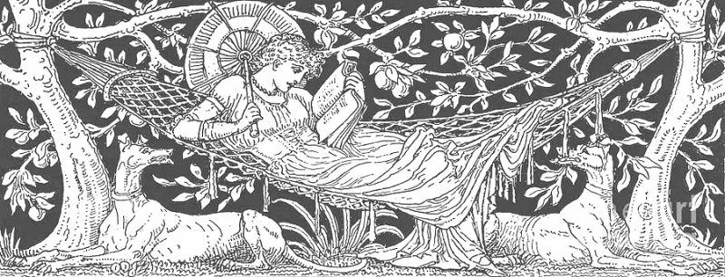 Drawing by Walter Crane