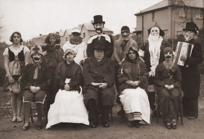 Vintage photograph of Mummers