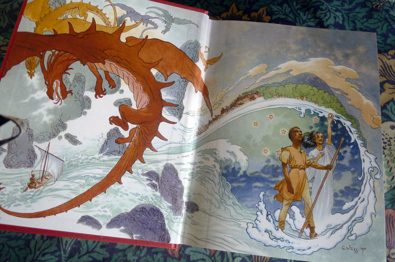 Tales of Earthsea endpaper by Charles Vess
