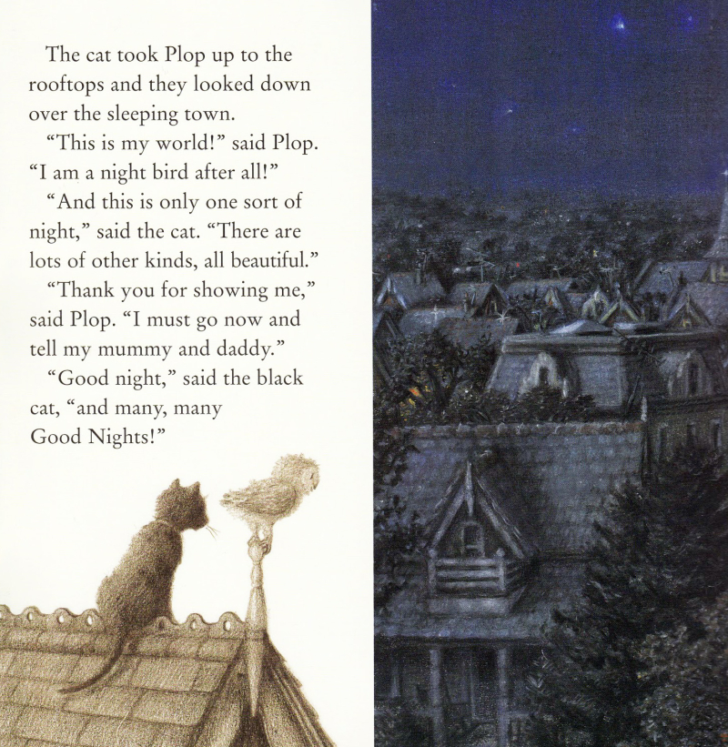 A page from The Owl Who Was Afraid of the Dark, illustrated by Paul Howard