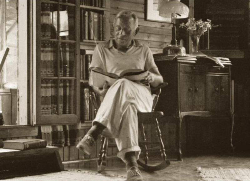 Ernest Oberholtzer at home on his island
