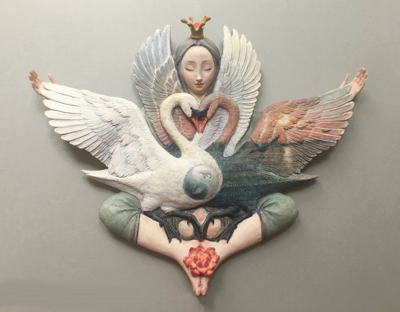 Nesting in Future Love's Embrace (sculpture) by Virginia Lee