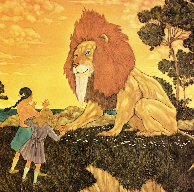 Narnia illustration by Michael Hague 3x