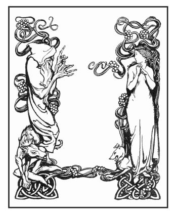 Title page for Irish Fairy Tales illustrated by Arthur Rackham