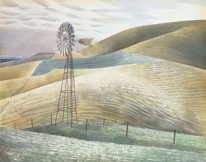 Windmill by by Eric Ravilious