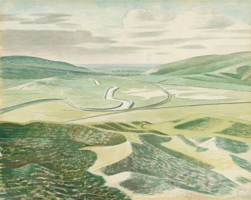 Floods at Lewes by Eric Ravilious