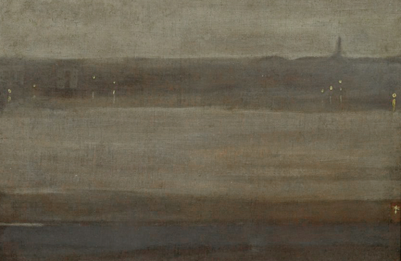 Nocturne in Grey and Silver by James McNeill Whistler