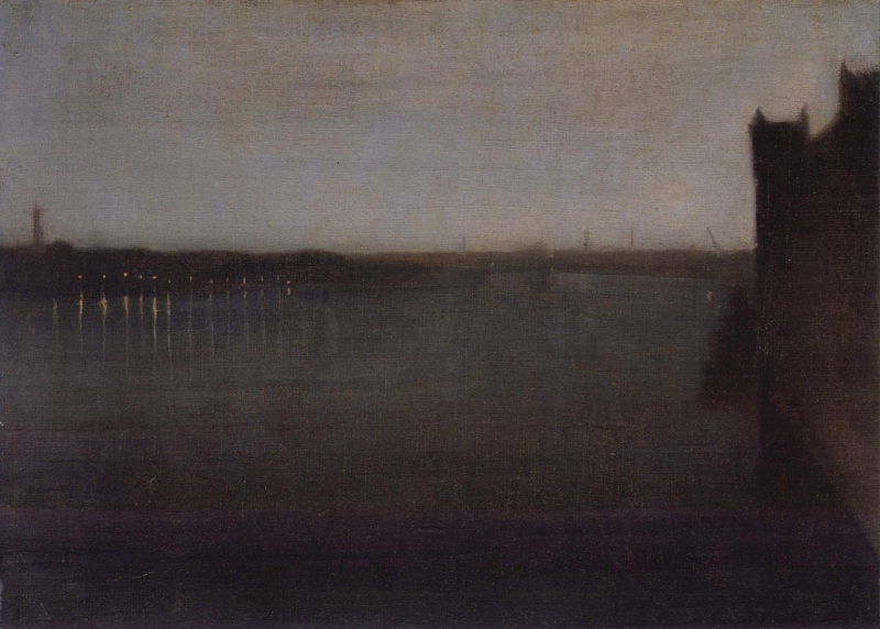 Nocturne in Grey and Gold by James McNeill Whistler