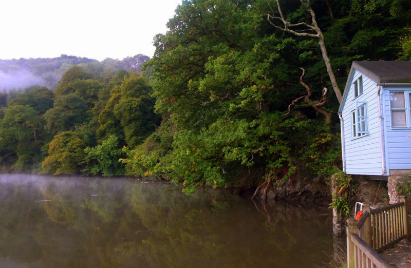 The little cabin on the River Dart