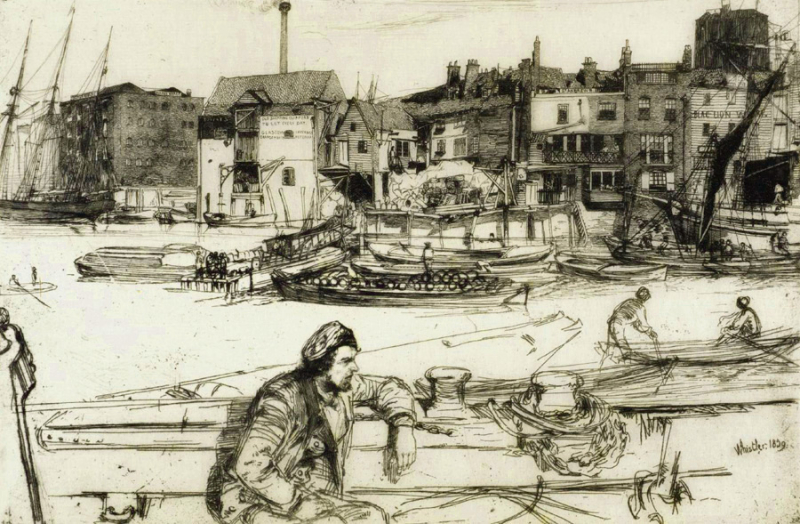 Black Lion's Wharf by James McNeill Whistler