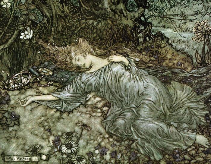Lying Asleep by Arthur Rackham