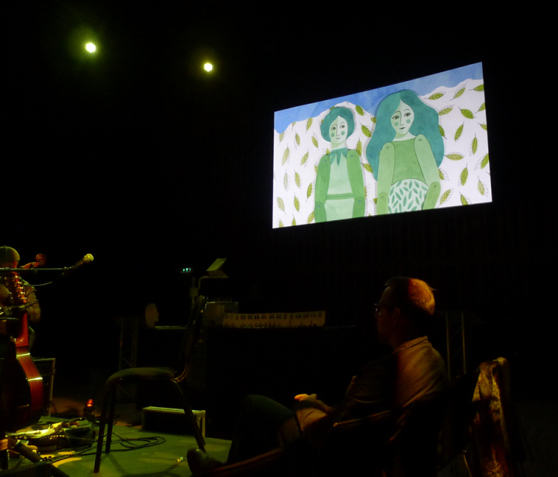 The Green Children projected animation