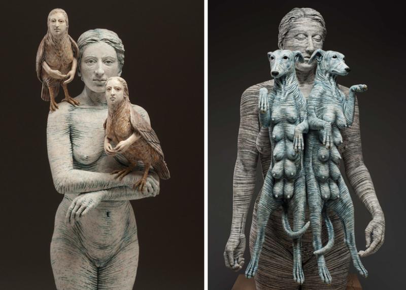 Sirens of Rutino & Artemis/Diana II by Adrian Arleo