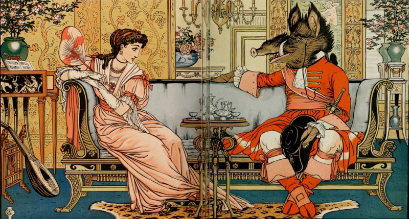 Beauty & the Beast illustrated by Walter Crane
