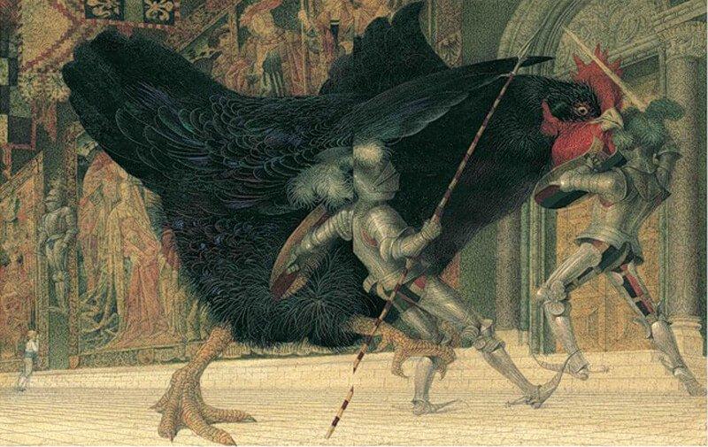 The Little Black Hen by Gennady Spirin