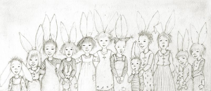 Bunny Family Portrait by Terri Windling